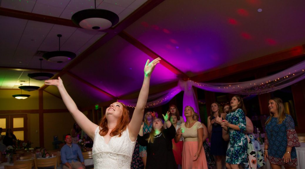 bouquet toss testimonials uplight uplighting