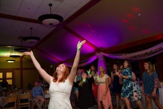 bouquet toss testimonials uplight uplighting