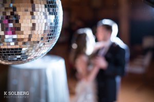 mirror ball bride and groom
