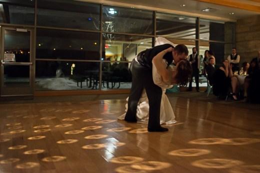 eagan_community_center_amy_minnick_bride_groom_dance_dip_kiss